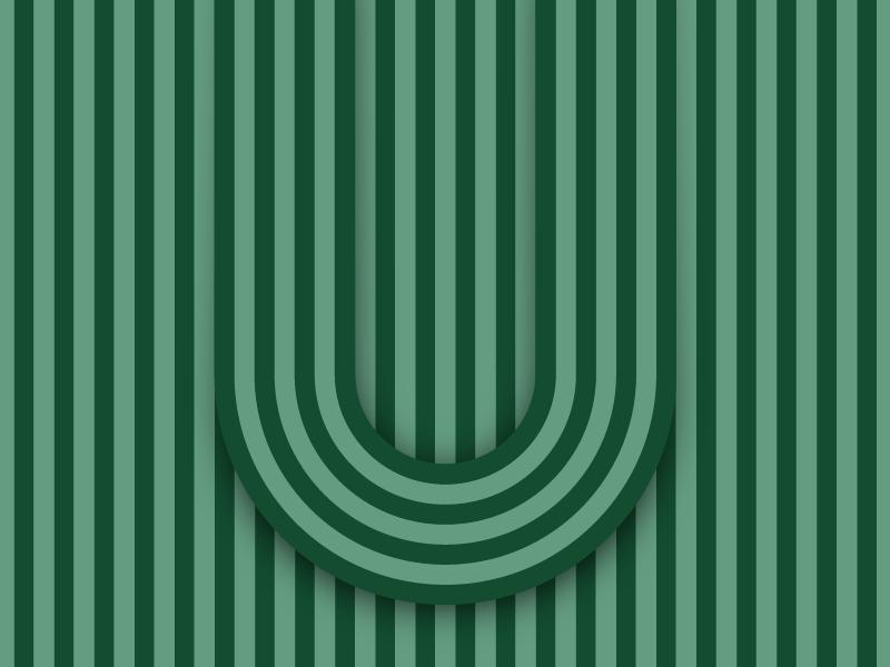 U – #36daysoftype design minimal type vector lettering typography