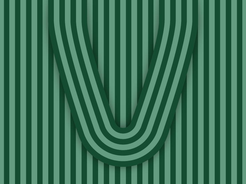 V – #36daysoftype design minimal type vector lettering typography