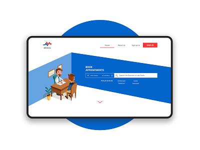 Medical Portal Design ux design ui ux header hero slider ui design search bar