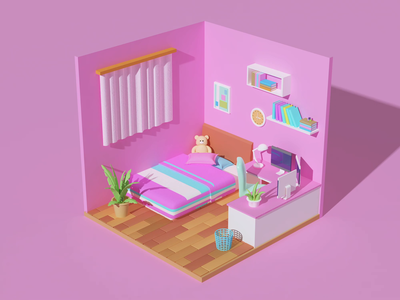 gril's room animation