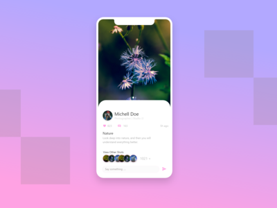 Photography Profile view -Mobile Design