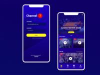 TV channel Mobile Design Concept