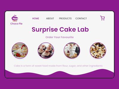 Cake Order- Website  Landing page design