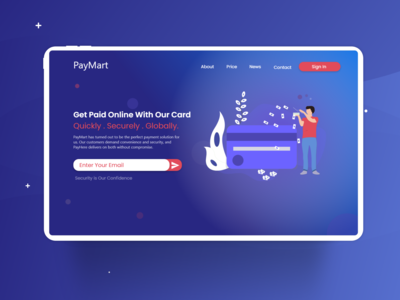 Payment Card Introduction Sample Landing page Design