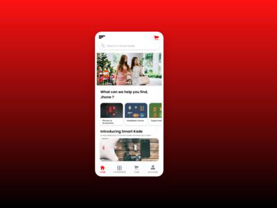 Smart Kade - Sample Online shopping Mobile App Home Page Design