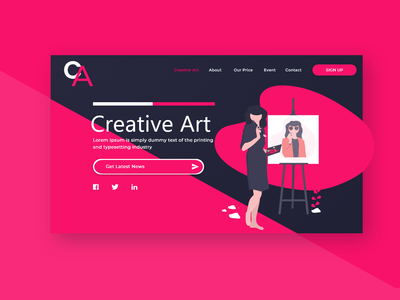 Art Class Register Sample Landing Page