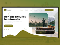 Trip Booking Company for Website  landing page