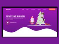 Gift Website landing page design