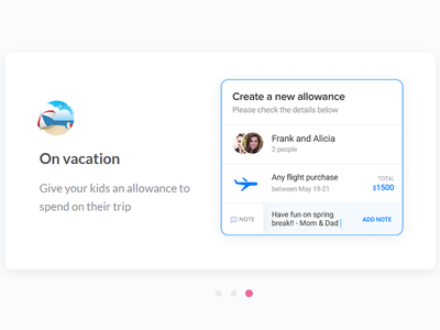 On vacation web carousel slider allowance vacation payment
