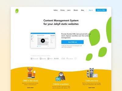 Siteleaf.com redesign oak siteleaf platform content generate cms jekyll site static