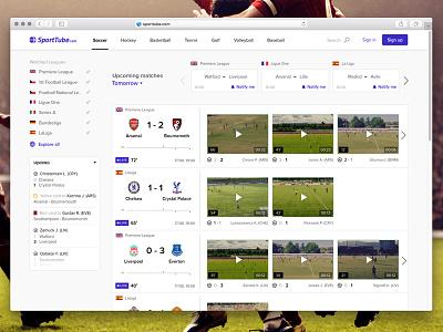 Sporttube.com Homepage news live stats hockey soccer video sport homepage