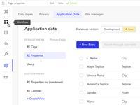 Bubble.is Application Data UI
