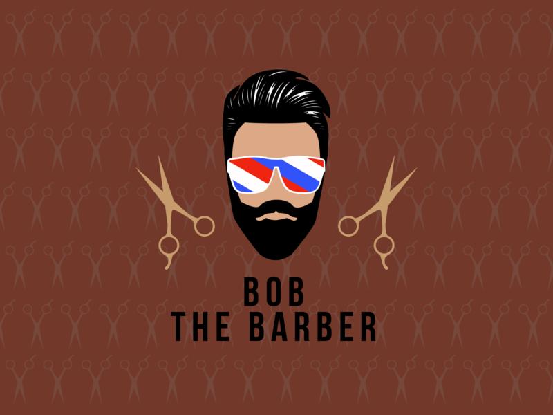 Daily Logo Challenge #13 - Barbershop Logo vector logo barbershop
