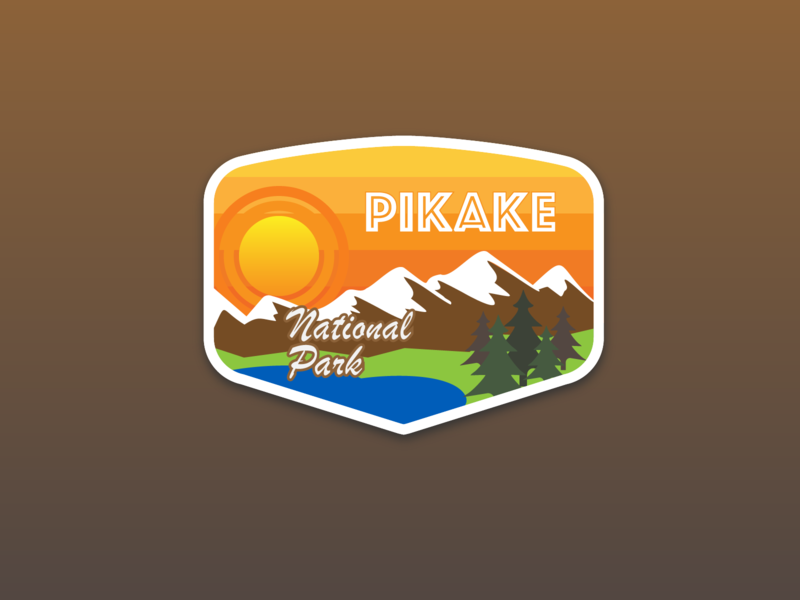 Daily Logo Challenge #20 - National Park Badge vector logo national park badge