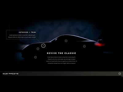 Porsche - Revive The Classic porsche web design classic silhouette 3d render car sport
