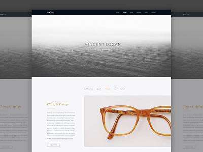 Vincent Logan Site web design ui minimal website clean vincent logan interface glasses