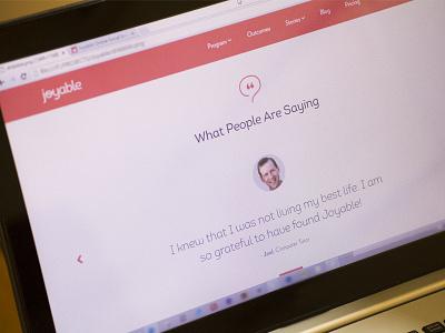 Joyable website landing page webdesign ui joyable web