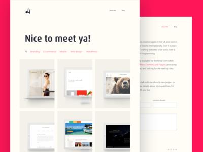 Personal Portfolio Redesign interface web webdesign ui redesign freelance portfolio