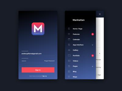 Manhattan HTML Mobile Template manhattan app mobile template html template