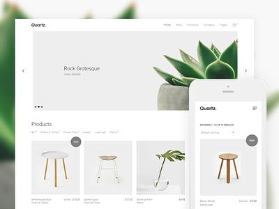 Quartz - Creative WooCommerce & WordPress Theme web web design site website loop themes core html wordpress template theme themeforest