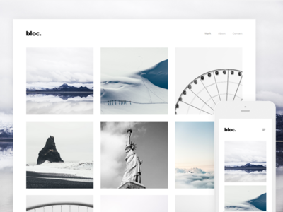 Bloc - Photography Free Wordpress Theme by Andreu Pifarre - Dribbble