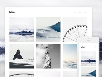 Bloc - Photography Free Wordpress Theme web web design free website loop themes bloc wordpress template theme themeforest