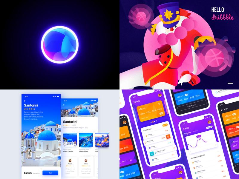 Best 4 shots of 2018 trip card bank card artificial intelligence ai travel journey concept vector illustration animation app ui design