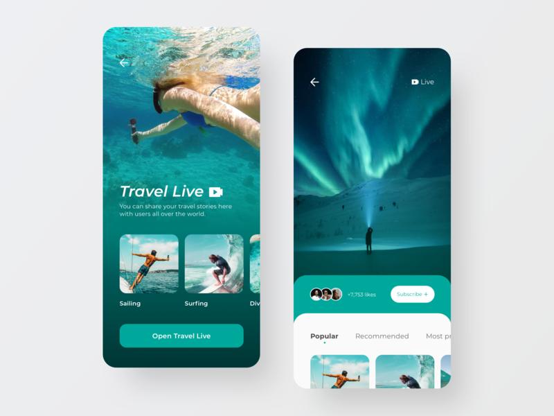 Travel App Conceptual Design Part 2 ios live mobile app design mobile ui mobile app design trip travel journey ux concept app ui design