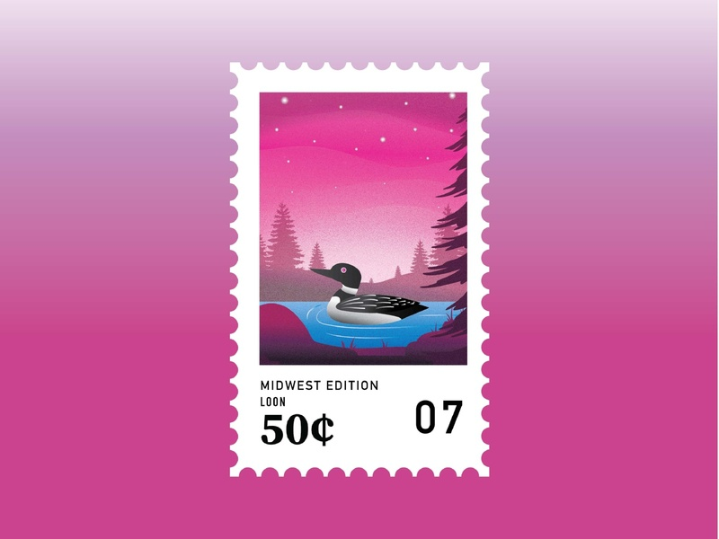 Midwest Stamps: Loon