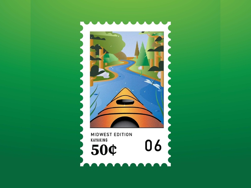 Midwest Stamps: Kayaking