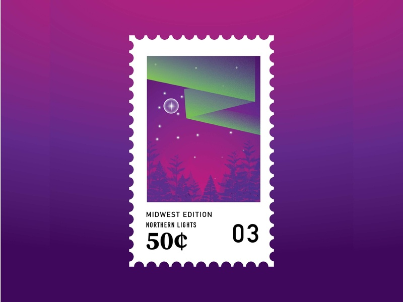 Midwestern Stamps: Northern Lights