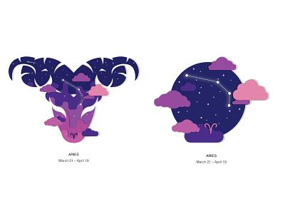 Zodiac Aries zodiac sign aries design vector illustration