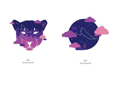 Zodiac Leo leo zodiac design vector illustration