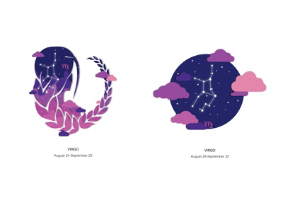 Zodiac Virgo zodiac design vector illustration