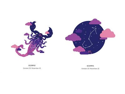 Zodiac Scorpio scorpion scorpio zodiac design vector illustration