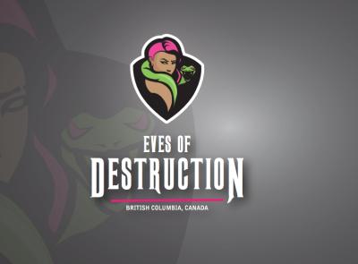 Eves of Destruction Roller Derby logo branding and identity roller derby branding design vector illustration