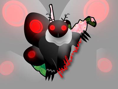 Moth Man! westvirginia moth mythology design vector illustration