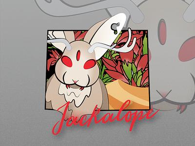 North American Creatures: Jackalope wyoming northamerica myth rabbit jackalope design vector illustration