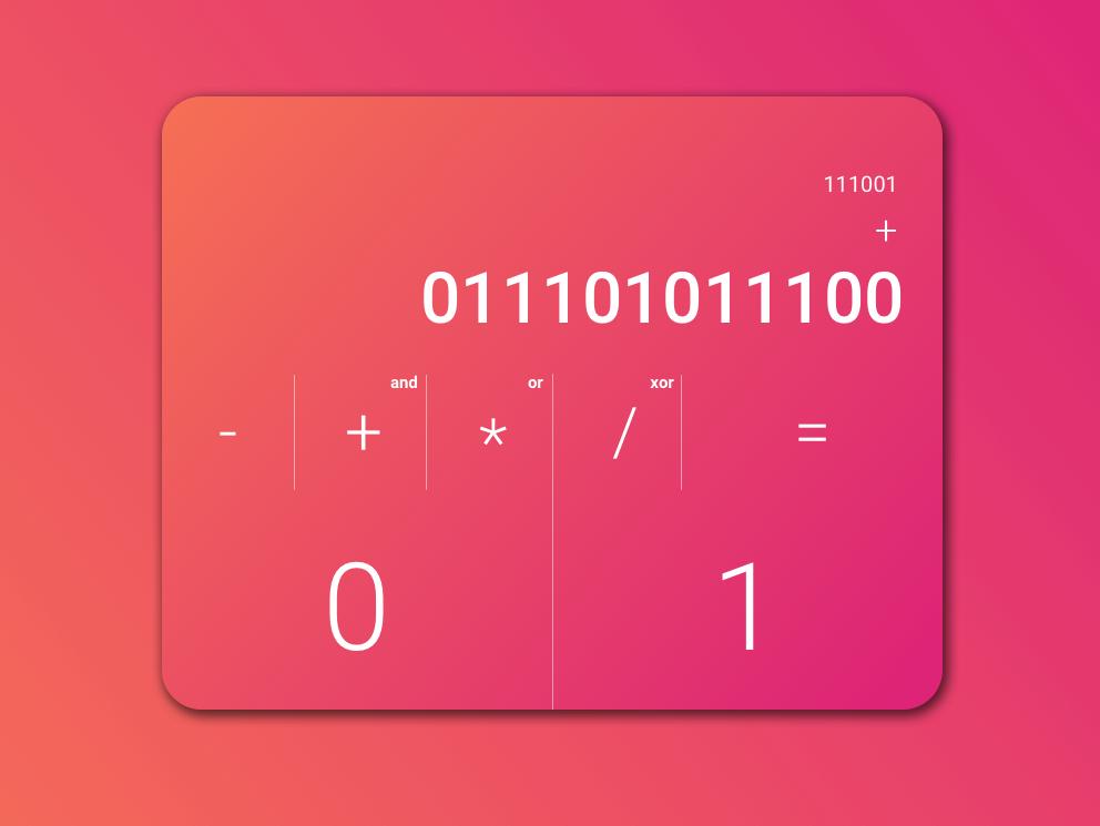 DailyUI #004 Binary Calculator by Ruslan Vovchenko