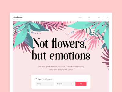Girls flower web design