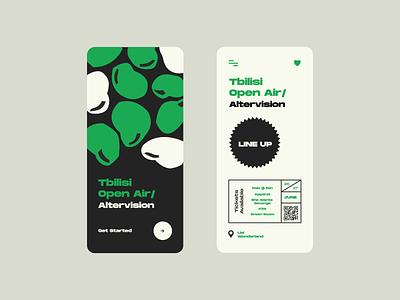 Open Air color vector website webdesign mobile app mobile illustration minimal app design app design ux ui