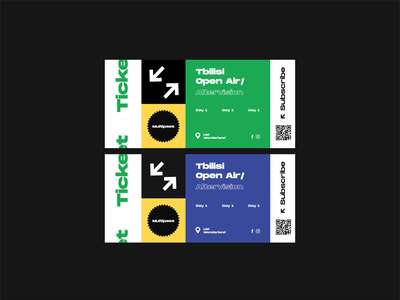 Tbilisi Open Air Ticket layout graphicdesign festival ticket vector illustration color design