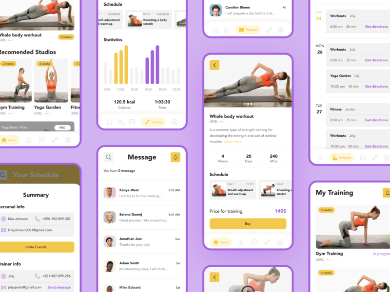 Fitness Application Design design uiux webdesign uxdesign app app design mobile app uidesign fitness fitness app sport ui