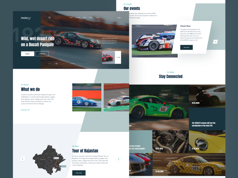 Car Racing Website Design motorbike racing car racing speed car design uidesign uxdesign header hero banner hero image webdesign uiux ui