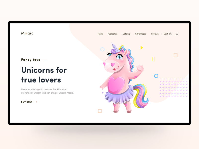 Unicorn Shop headers illustrations illustration art magic shop illustration banner design vector header illustration personal illustration uiux ui pink roses unicorn illustrator ilustration header design header