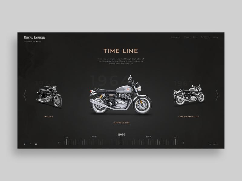 Royal Enfield webdesign motorbike uxdesign