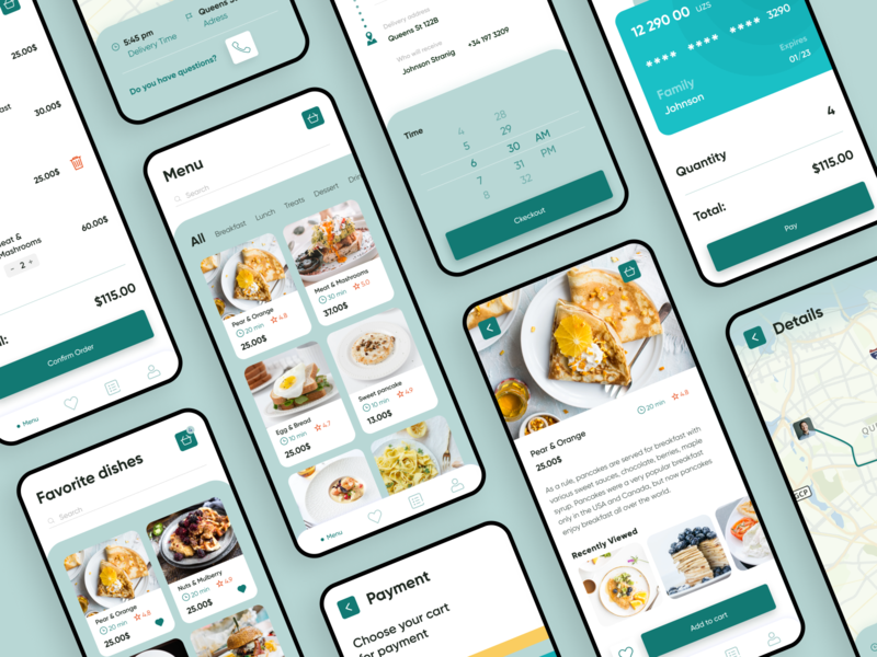 Restaurant Menu Mobile Application delivery restourant menu cooking app cookie cookapp cooking cook uxdesign app design uiux webdesign ui design