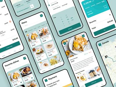 Restaurant Menu Mobile Application delivery restourant menu cooking app cookie cookapp cooking cook uxdesign app design uiux webdesign ui design