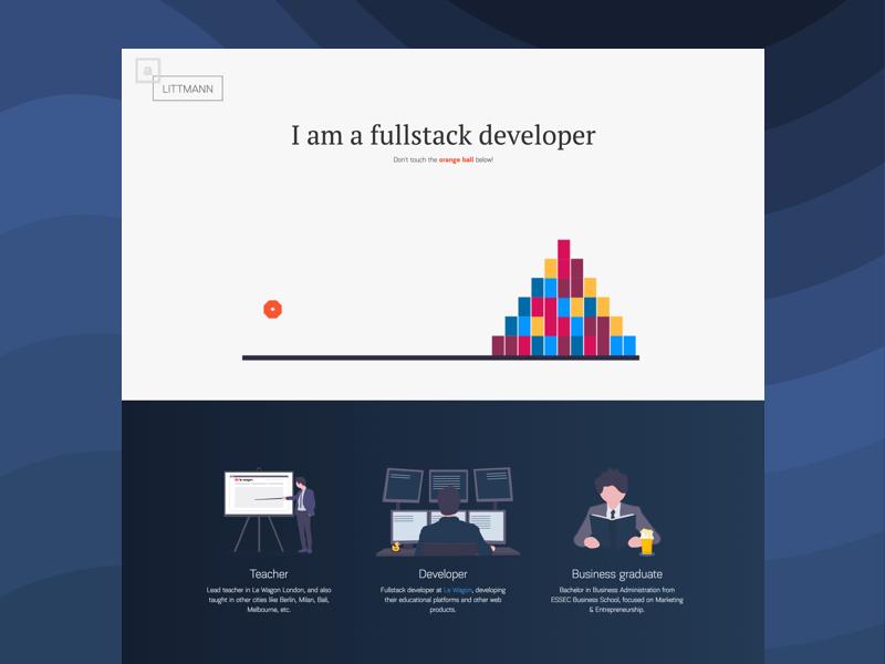 Portfolio 2.0 javascript design personal website portfolio