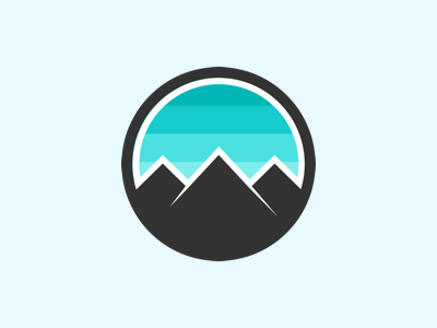 Personal logo for portfolio website sketch app ski snowboard patagonia logo mountains